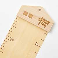 丸められる木製身長計/引っ越しできる柱のキズ me-mori roll Hinoki 〔幅13.3×高さ155×厚さ1cm〕 身長計 キッズ Have Some Fun! 福岡県