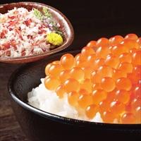 海鮮紅白丼 蟹 いくら セット 〔ボイル済本ずわいがにほぐし身100g×3、鱒いくら醤油漬け250g×2〕 カニ いくら醤油漬け 冷凍