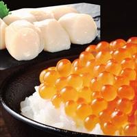 海鮮紅白丼 ほたて いくら セット 〔ほたて貝柱(生食用)1kg、鱒いくら醤油漬け250g×2〕 海鮮 詰め合わせ 冷凍