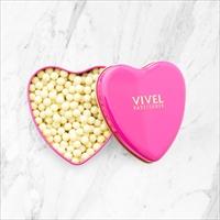 クランチチョコレート ハート缶 3個セット 〔クランチチョコレート(ホワイト)×3〕 チョコレート 洋菓子 神奈川 VIVEL PATISSERIE