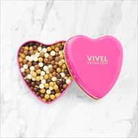 クランチチョコレート ハート缶 3個セット 〔クランチチョコレート(ミックス)×3〕 チョコレート 洋菓子 神奈川 VIVEL PATISSERIE