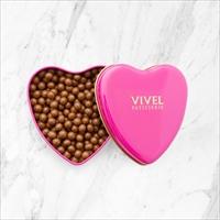 クランチチョコレート ハート缶 3個セット 〔クランチチョコレート(ミルク)×3〕 チョコレート 洋菓子 神奈川 VIVEL PATISSERIE