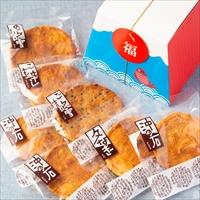 草加せんべい 富士山BOX 6個セット 〔(かたやき×3・ごま・のり・えび・辛し)×6〕 せんべい 和菓子 埼玉 小宮せんべい本舗