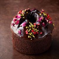 フラワーデコレーションのチョコレートケーキ 3箱セット 〔パウンドケーキ(約直径9×高さ6.5cm)×3〕 ケーキ 洋菓子 東京 アトリエアニバーサリー