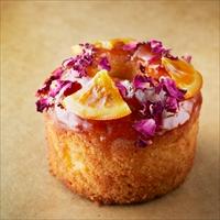 フラワーデコレーションのオレンジケーキ 3箱セット 〔パウンドケーキ(約直径9×高さ6.5cm)×3〕 ケーキ 洋菓子 東京 アトリエアニバーサリー