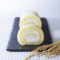 佐渡島 トキのお米ロール 2本入り1箱 〔1本18cm×2〕 ロールケーキ 洋菓子 新潟 嶋屋製菓所 しまや