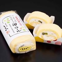 地鶏卵のフルーツロールケーキ 2本入 2箱 〔(370g×2)×2〕 ロールケーキ 洋菓子 新潟 嶋屋製菓所 しまや