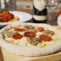 沖縄 琉球ピザ エンゾ アグー豚のサルシッチャピザ 〔1枚330g×4〕 ピザ 惣菜 pizzeria da ENZO