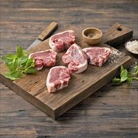 豪州産 熟成冷凍 ラムTボーンステーキ 〔2枚入×40パック〕 羊肉