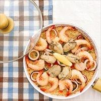 牡蠣のパエリアセット 〔具(蒸しかき・えび・いか・調味料)430g・スープ500g〕 パエリア 惣菜 海鮮 Manma