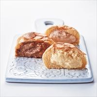 八天堂 プレミアムフローズンくりーむパン 8個 〔カスタード・チョコ・ストロベリー×計8〕 クリームパン 冷凍 洋菓子