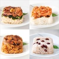 国産素材8種の彩りご飯 詰め合わせ 〔ちりめん高菜玄米ごはん・華味鳥のかしわごはん ほか全8種×各125g〕 おこわ 惣菜 冷凍