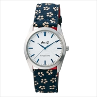 和心 宇陀印傳 小桜模様バンド 日本製腕時計 トンボ 〔全長(腕回り)約23.5cm・ベルト幅2cm〕 腕時計