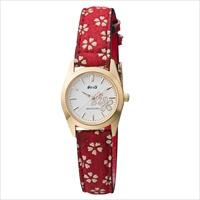 和心 宇陀印傳 小桜模様バンド 日本製腕時計 桜 〔全長(腕回り)約21.8cm・ベルト幅2cm〕 腕時計