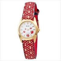和心 宇陀印傳 小桜模様バンド 日本製腕時計 紅葉 〔全長(腕回り)約21.8cm・ベルト幅2cm〕 腕時計