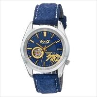 和心 東京豚革 機械式 日本製腕時計 紺 〔全長(腕回り)約26cm・ベルト幅2.2cm〕 腕時計