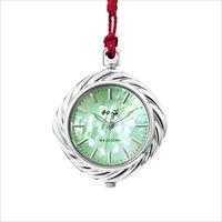 和心 江戸組紐 日本製 ポケットウォッチ 桜/緑 〔ストラップ約13cm〕 腕時計