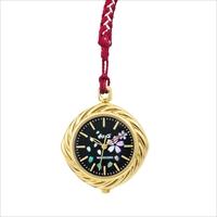 和心 江戸組紐 日本製 ポケットウォッチ 桜/黒 〔ストラップ約13cm〕 腕時計